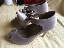 stunning women's evening wear shoes by carvela, u.k size 5 e.u 38, silver,