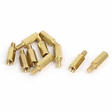 M3x12mm+6mm Brass Threaded Hexagonal Male/Female Standoff Spacer Pillar 10pcs