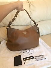 Prada Brown Bag Hobo Shoulder, 100% Authentic, Very Good Condition STUNNING!