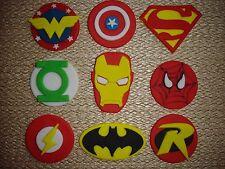 Marvel / superhero  sugar paste cupcake toppers / cake decorations , birthdays
