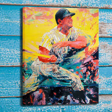 Print Canvas Home Wall Art Decor Oil Painting LeRoy Neiman Mickey Mantle 24x32