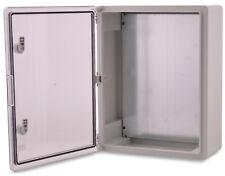 BOXEXPERT Wandschrank-Gehäuse Serie Fleet 500x400x175mm IP 65 transparent grau