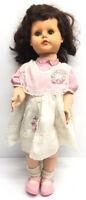 "Vtg Ideal Posie Doll 1954 23"" Inch VP23 White Dress"