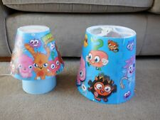 Moshi Monsters Lampshade and Table lamp Blue Good Condition Mains Powered