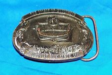 Old Kessler Whisky Belt Buckle Wisconsin Distillery Whiskey Ad Advertising Brass