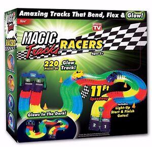 Magic Tracks 220-Piece Glow In The Dark Racetrack & Car Play Set - As Seen on TV