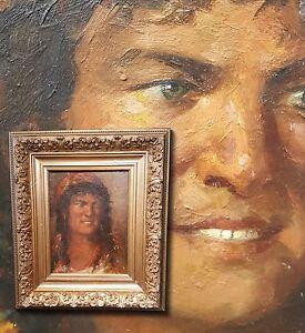 Sizilianisches Mädchen. Antikes Portrait Ölgemälde sign. N. PADOLESI (*1877-1934