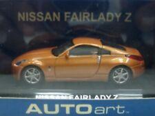 WOW EXTREMELY RARE Nissan Z33 Fairlady 350Z Coupe 2002 Orange 1:64 Auto Art-CM'S