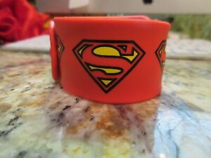 DC Comics Superman Super Hero LOGO RED Rubber Bracelet NEW