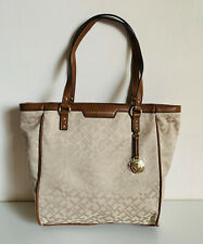 NEW! TOMMY HILFIGER BROWN SHOPPER SATCHEL TOTE BAG PURSE $98 SALE