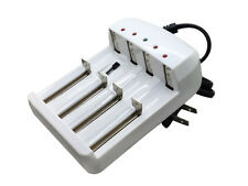 4 Slot Charger for Rechargeable Li-ion Battery 18650 26650 14500 CR123A 16340 AA