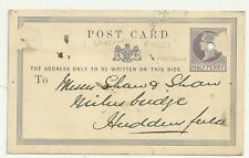 "* 1871 BRADFORD ""balle"" Machine Punch annulé PSPC à Shaw milnsbridge huddfd"
