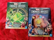 MARVEL CINEMATIC UNIVERSE PHASE 3 COMPLETE (PARTS 1 & 2)  4K + BLU RAY VGC