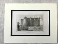 1830 The Bastille Paris France French Fortress Castle Antique Engraving Print