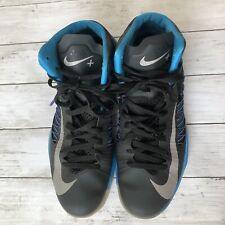Nike Hyperdunk Lunarlon Basketball Shoes Mens Sz 13 Black Blue Gray 524948-001