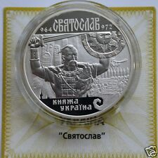 SVYATOSLAV Ukraine Rare 10 Hryvnia 2002 Silver Proof Coin Prince of Kyiv KM# 162