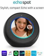 Amazon Echo Spot, Smart Alarm Clock with Alexa - Black , White