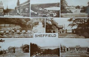 SHEFFIELD, Multi View, Posted 1930 Vintage Postcard,