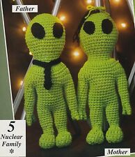 ADORABLE Alien Nuclear Family/Doll/Toy/ Crochet Pattern INSTRUCTIONS ONLY