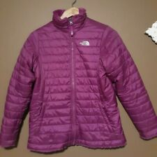 THE NORTH FACE Mossbud Swirl Reversible Pink Puffer Jacket Girl's Size XL (18)