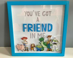 DISNEY PIXAR TOY STORY FRAMED WALL ART PLASTIC CHILD FRIENDLY VGC