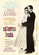 FUNNY FACE Polish A1 movie poster AUDREY HEPBURN FRED ASTAIRE Janisewszki art VF