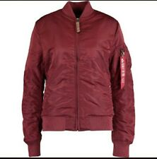 Alpha Industries Ladies MA-1 VF 59 bomber jacket burgundy Large BNWT