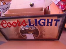 Huge Coors Light Beer Mirror Sign Huge Man Cave Sale Check It Out Outdoors Scene