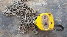 0.5 ton Chain Block and Tackle Hoist. Tuffy, Beaver, Boss, Harrington, Nobles