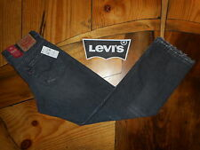 NEW $59 MENS 569 LEVI'S Jeans Loose Straight Fit Faded Black Distressed 33 x 34