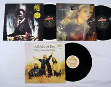 All About Eve 3 Lp Lot Self Titled Scarlet & Other Stories Flowers In Your Hair