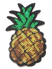 Pineapple Sequin Iron On Patch- Appliques Crafts Fruit Sew Patches Badge Crafts