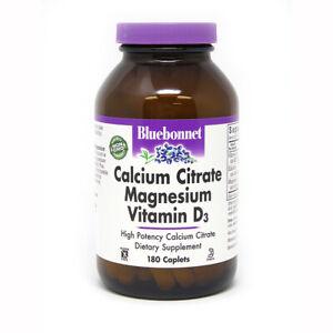 Blue Bonnet Calcium Citrate Magnesium Plus Vitamin D3 180 Caplets FREE SHIPPING