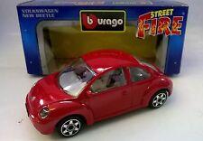 BURAGO STREET FIRE 1:43 DIE CAST VOLKSWAGEN NEW BEETLE ROSSO 4172 MADE IN ITALY