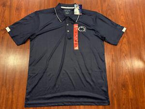 Champion Men's Penn State PSU Football Navy Polo Jersey Shirt Medium M NCAA