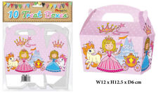 10 Princess Treat Boxes - Small Cupcake Food Loot Cardboard Gift