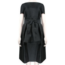 The Row Elegant Black Tied Front Jivon Dress US0 UK4