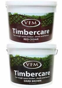 5 L Fence Shed Timber Exterior Wood Paint Quick Dry Water Based Timber WoodCare