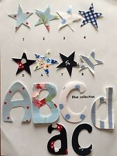 15 tessuto ferro su lettera/Blu raccolta, i nomi Personalizzato Natale. 🎄