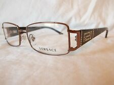 VERSACE EYEGLASS FRAME VE1163B 1013 BROWN TORTOISE STONE 52-16-130 NEW AUTHENTIC