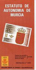 España Estatuto de Autonomía de Murcia año 1983 (DB-945)