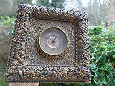 Latón Antiguo & Bronce Francés Arte Caballete Reloj Oro Libélulas estética Firmado