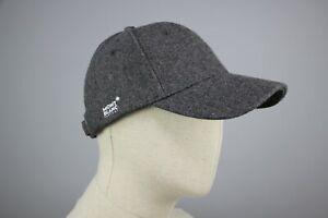 MONT BLANC Cap Hats Gray 30% Wool Baseball Hats Adjustable size!!!
