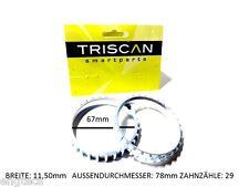 2x triscan va ABS sensor anillo Opel asta calibra Tigra Vectra corsa Kadett GSI 2.0