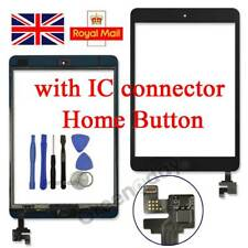 Black Replacement Digitizer Touch Display Screen For iPad Mini 1/2 ic button UK