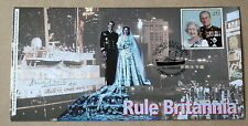 DECOMMISSIONING OF ROYAL YACHT BRITANNIA 1997 COVER SIGNED BY SIR HENRY LEACH