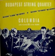 "Budapest String Quartet, Haydn ""Lark"" & Sunrise Quartets  Columbia 33CX 1061 UK"