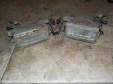90-91 Honda Prelude Passenger & Driver Fog Light Pair Clear Genuine OEM Defect