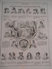 1867 PELE MELE de dessins Monsieur Madame leurs amis et leurs gens