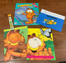 Garfield the Cat Vintage School Supply Lot.  Folders Book Covers Pouch Pencils..
